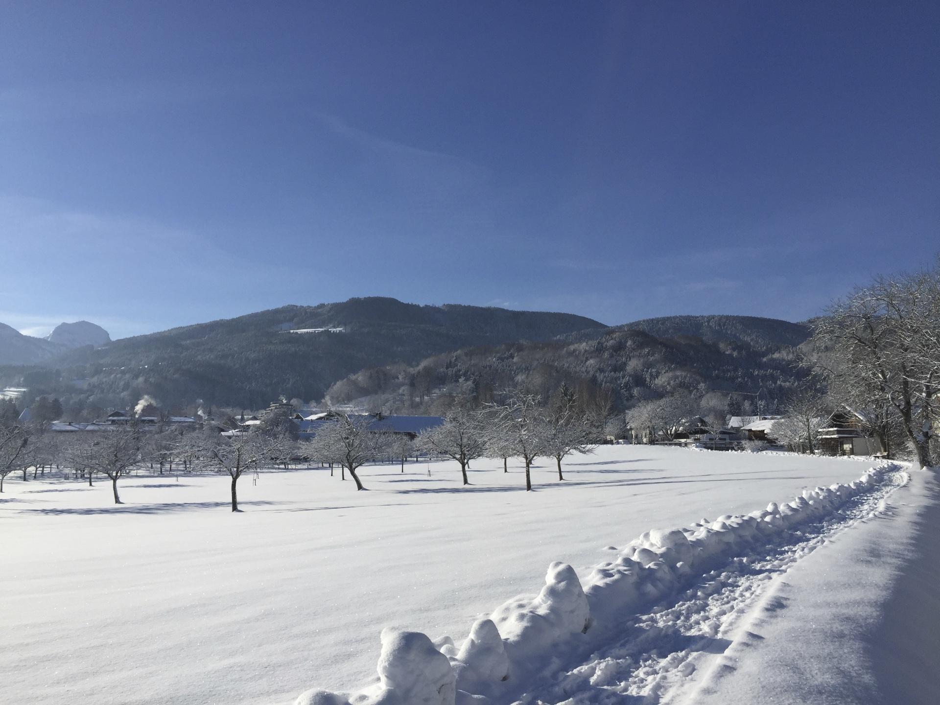 Feilnbach mit Schnee